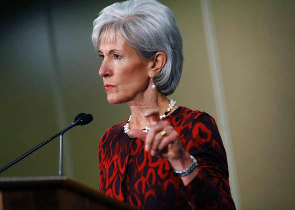 U.S. Health and Human Services Secretary Kathleen Sebelius speaks about the Affordable Care Act, November 15, 2013 in Detroit, Michigan.