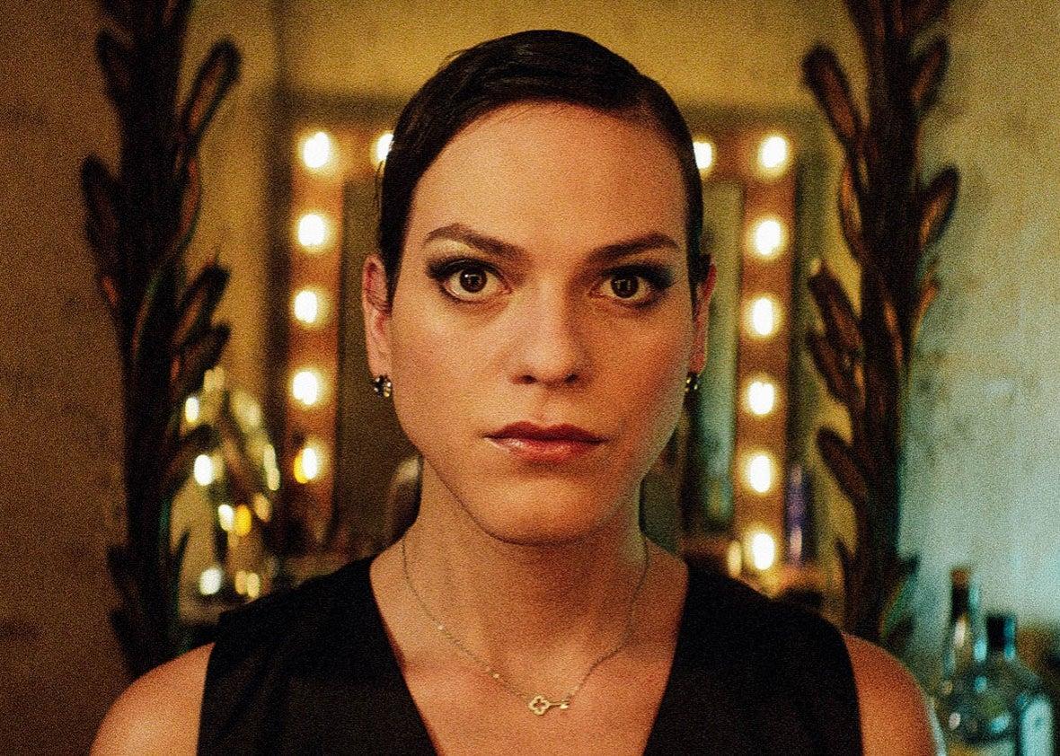 Daniela Vega as Marina stares straight into the camera