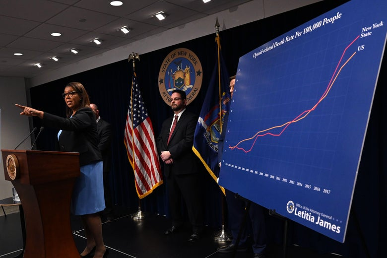 New York State Attorney General Letitia James holds a press conference at the Office of the Attorney General in New York March 28, 2019.
