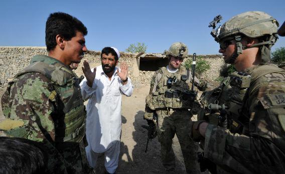 A soldier translator in Afghanistan