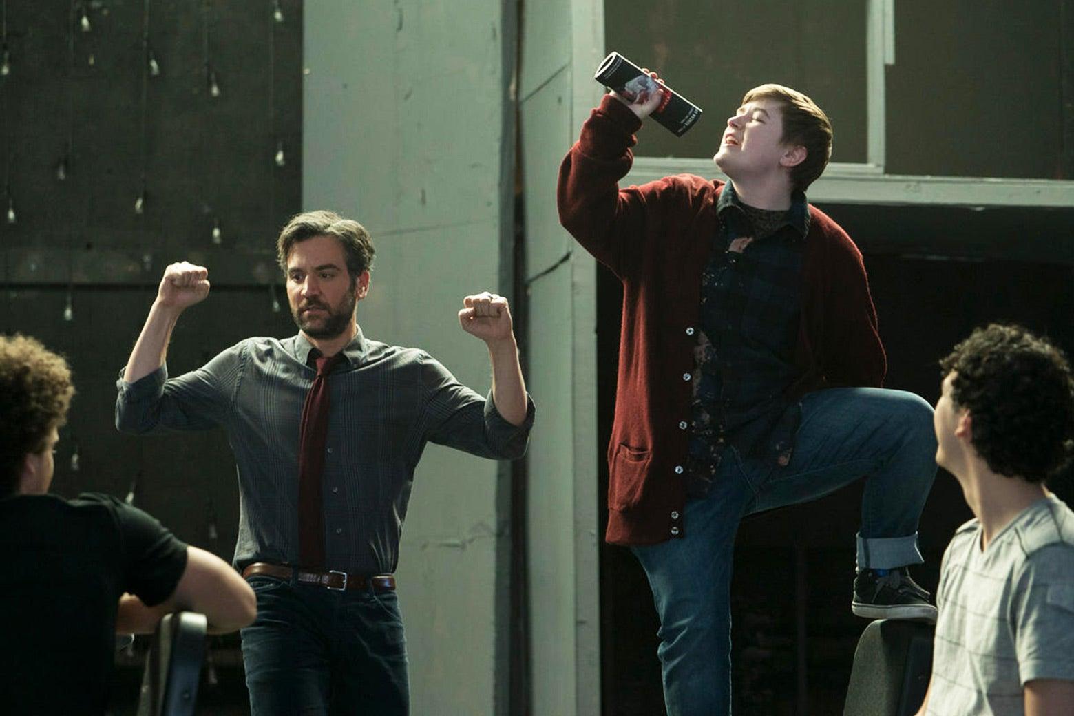 Josh Radnor and Ellie Desautels in NBC's Rise.