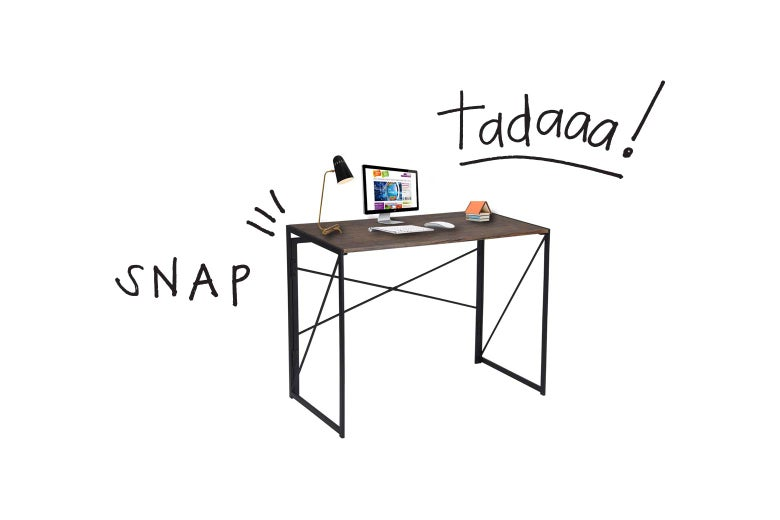 This Miraculous, Foldable Desk Is a Snap to Put Together—Literally