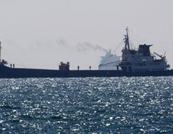A cargo ship that was part of the 'Freedom Flotilla.' Click image to expand.