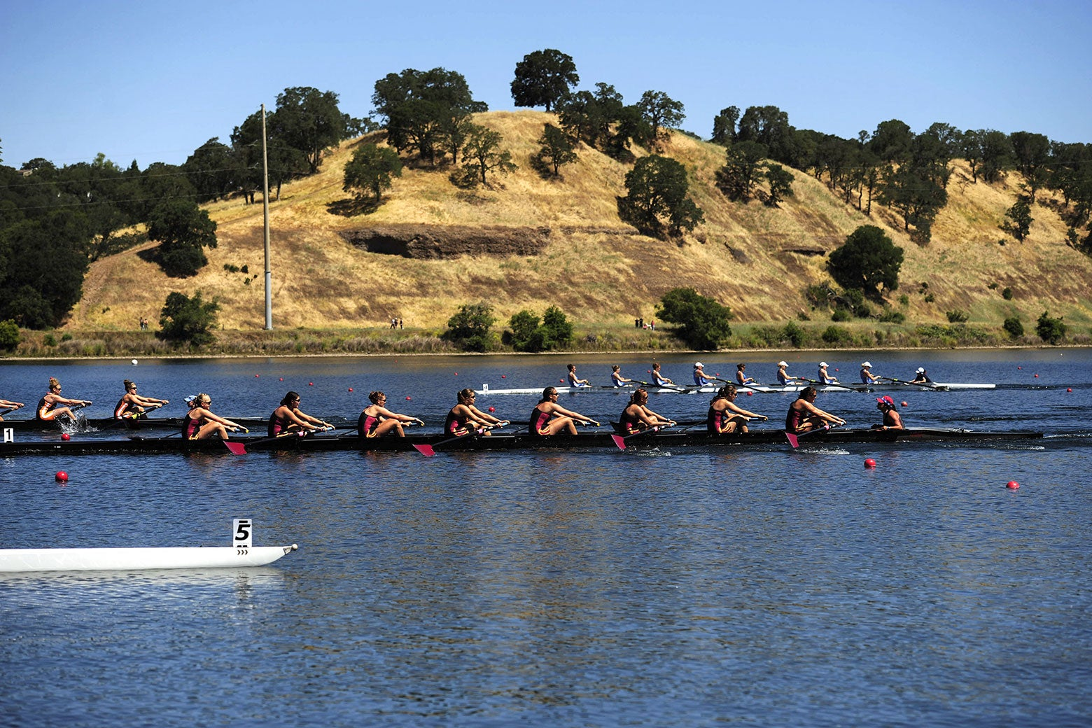 USC edges out UCLA for second place during the 2010 NCAA Division I Rowing Championships.