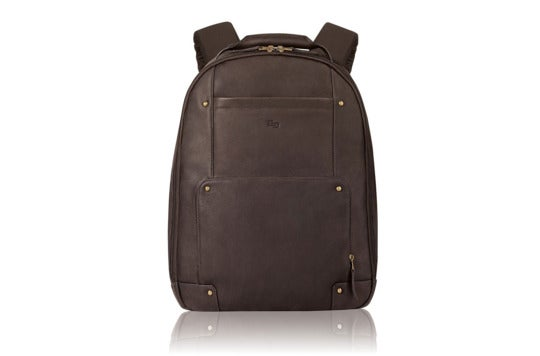 Solo Vintage leather laptop backpack.