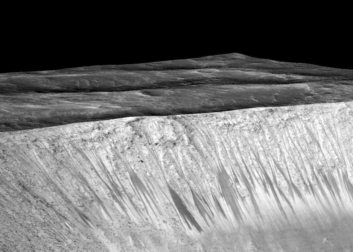 Water on Mars.