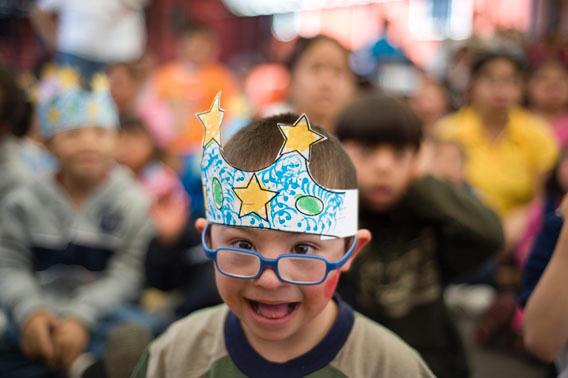 A child affected by Down Syndrome takes part in a celebration of the World Down Syndrome Day in Guatemala City, on March 21, 2012.,Mvd6252804