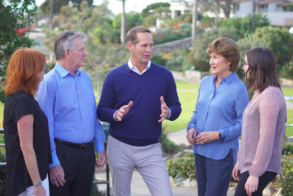 Campaign photo of Democratic congressional candidate Harley Rouda. In the past month, a pair of Rouda's fellow California Democrats ended their bids to unseat GOP Rep. Dana Rohrabacher, and endorsed Rouda.