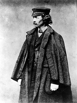 Photo take of Frederick Law Olmsted in 1857.