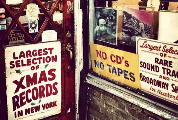Record store in New York's West Village