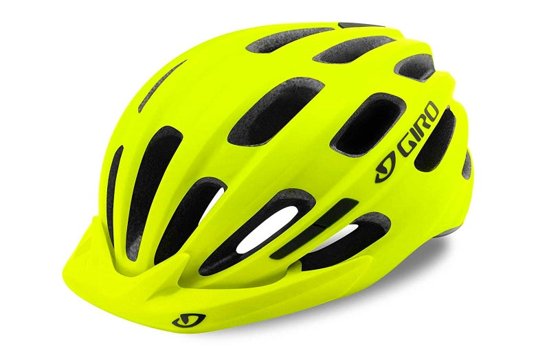A bright yellow helmet.