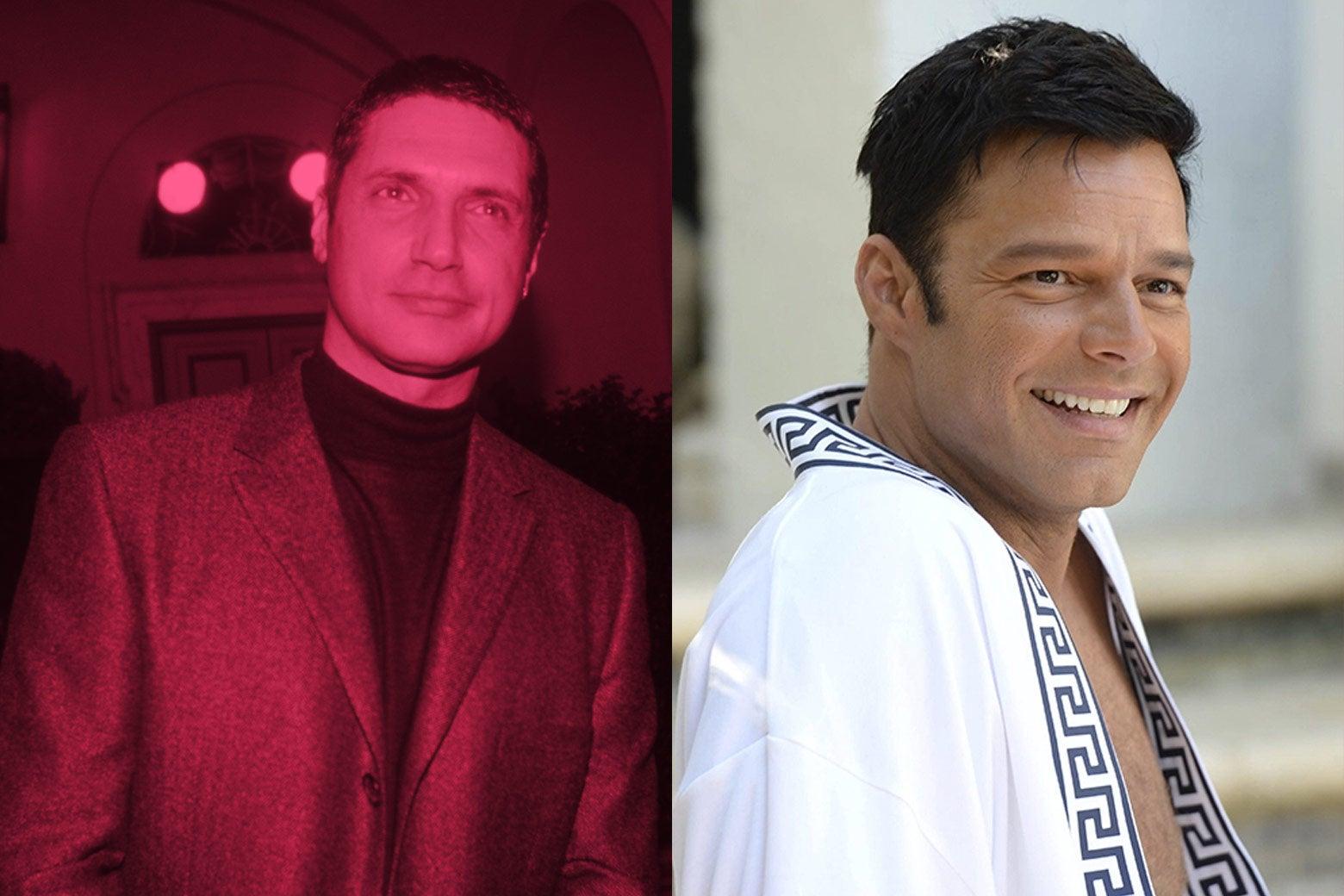 Antonio D'Amico and Ricky Martin as D'Amico.