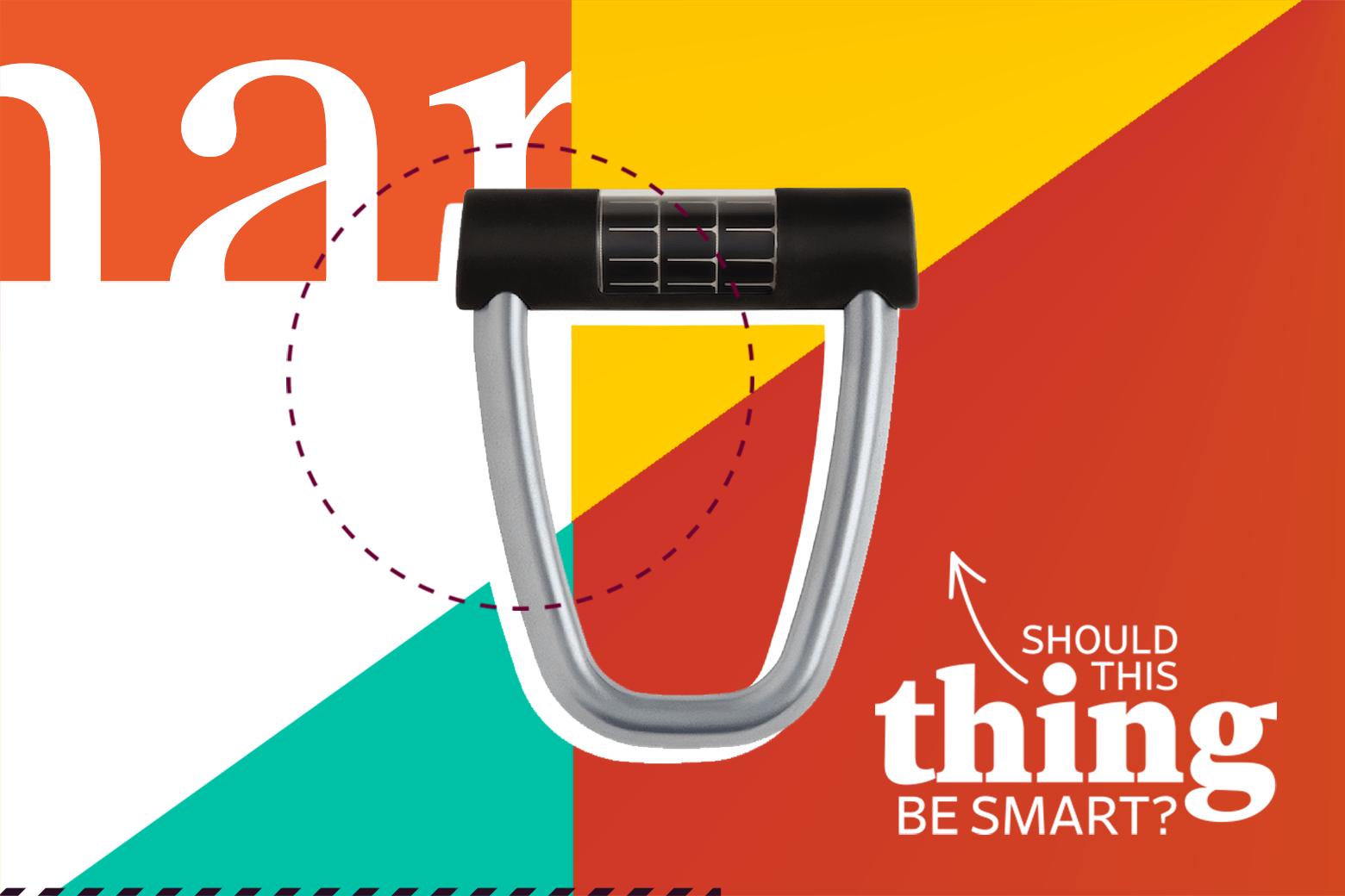 The Ellipse smart bike lock by Lattis.