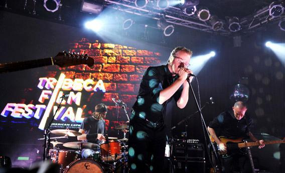Matt Berninger of The National performs on stage at the Opening Night After Party and Performance during the 2013 Tribeca Film Festival.