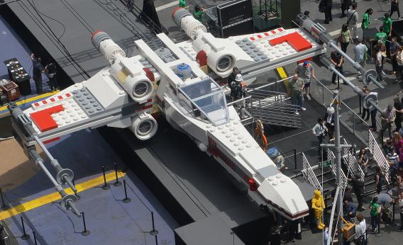 The world's largest Lego model is on display at Times Square in New York.