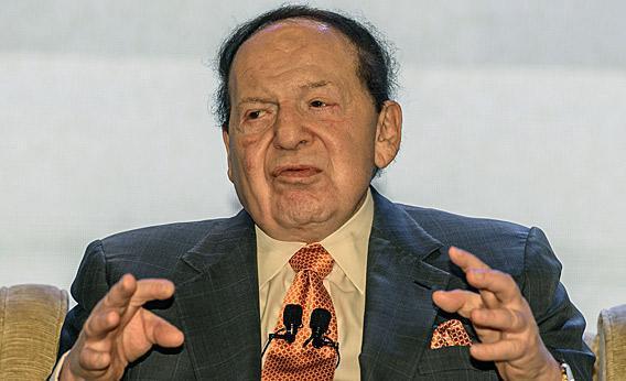 Las Vegas casino boss Sheldon Adelson.
