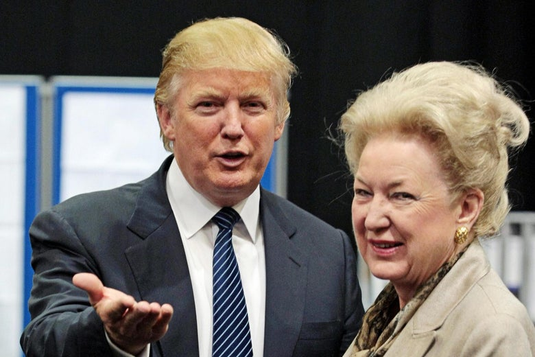 Donald Trump is pictured with his sister Maryanne Trump Barry.
