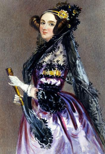 Watercolor portrait of Ada Lovelace