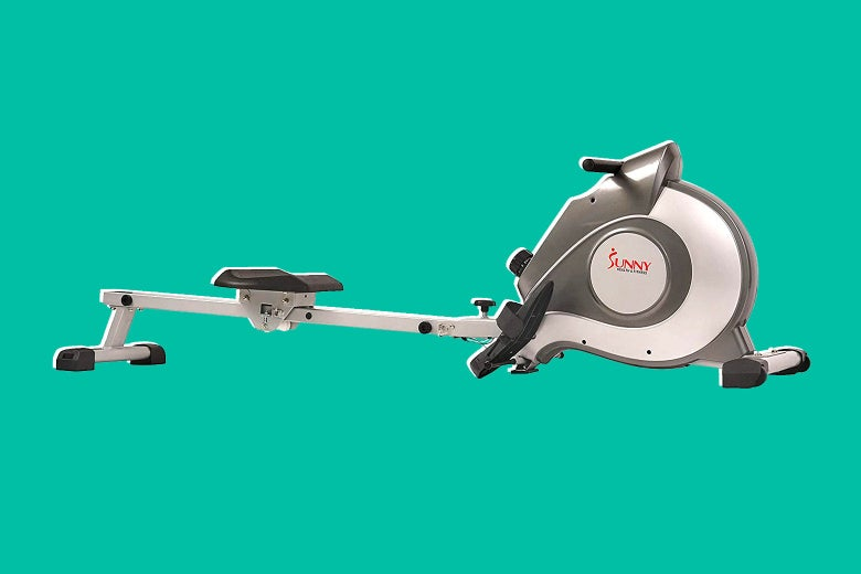 Sunny Health & Fitness SF-RW5515 magnetic rowing machine.