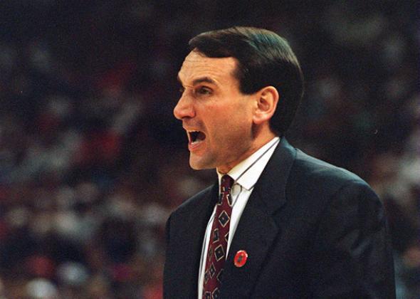 Duke coach Mike Krzyzewski.