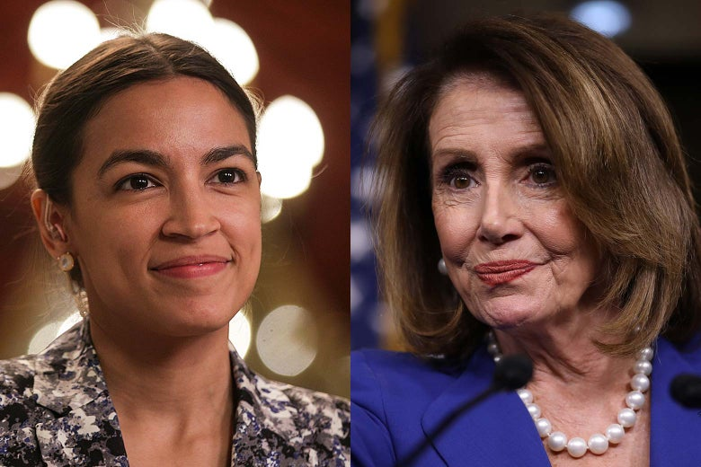 Rep. Alexandria Ocasio-Cortez and House Speaker Nancy Pelosi