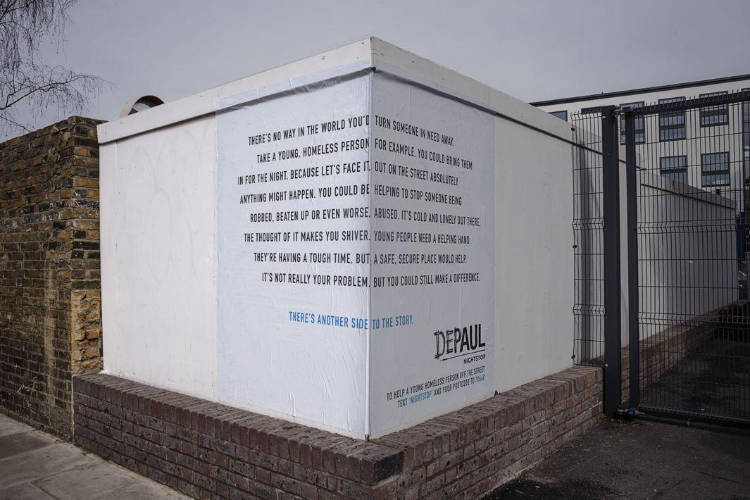Depaul UK Street Corners campaign from Publicis London takes