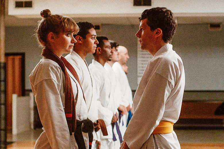 Imogen Poots and Jesse Eisenberg in The Art of Self-Defense.