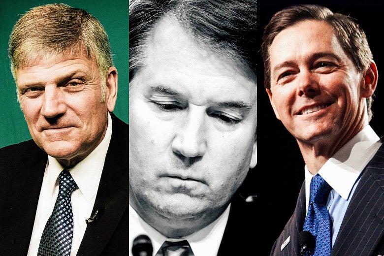 Franklin Graham, Brett Kavanaugh, and Ralph Reed.