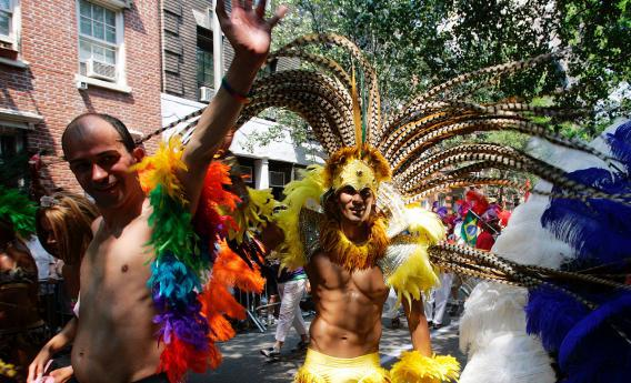 A scene from New York City's Gay Pride Parade June 26, 2005.