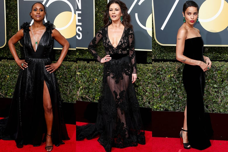 Issa Rae, Catherine Zeta-Jones, Zoe Kravitz.