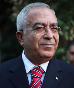 Palestinian Prime Minister Salam Fayyad. Click image to expand