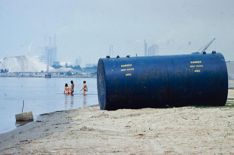 Chemical plants on shore are considered prime source of pollution Marc St. Gil, Lake Charles, La., June 1972