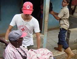 Red Cross rescuers in Batabano, Cuba. Click image to expand.
