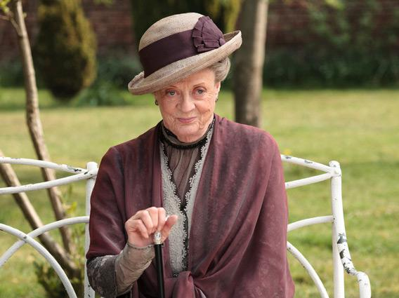 Dame Maggie Smith as the Dowager Countess.