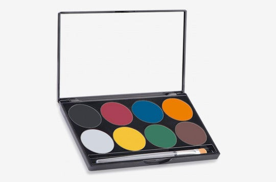 Mehron Makeup Paradise AQ Face & Body Paint 8-Color Palette.