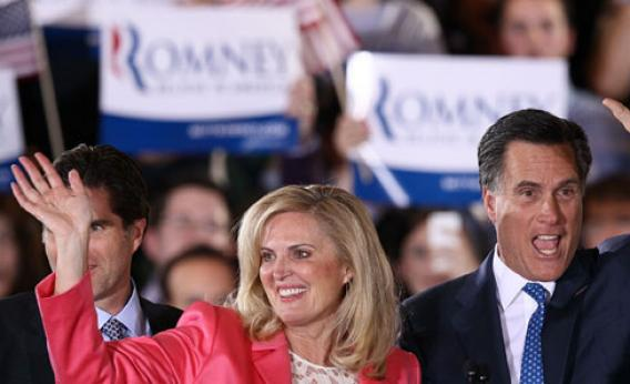 Republican presidential candidate, former Massachusetts Gov. Mitt Romney and his wife Ann Romney.
