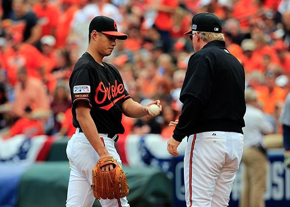 Manager Buck Showalter of the Baltimore Orioles.