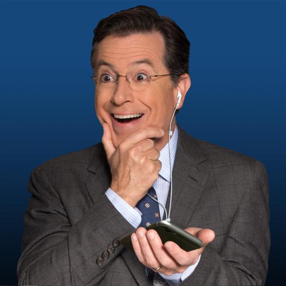 Podcast fan Stephen Colbert.