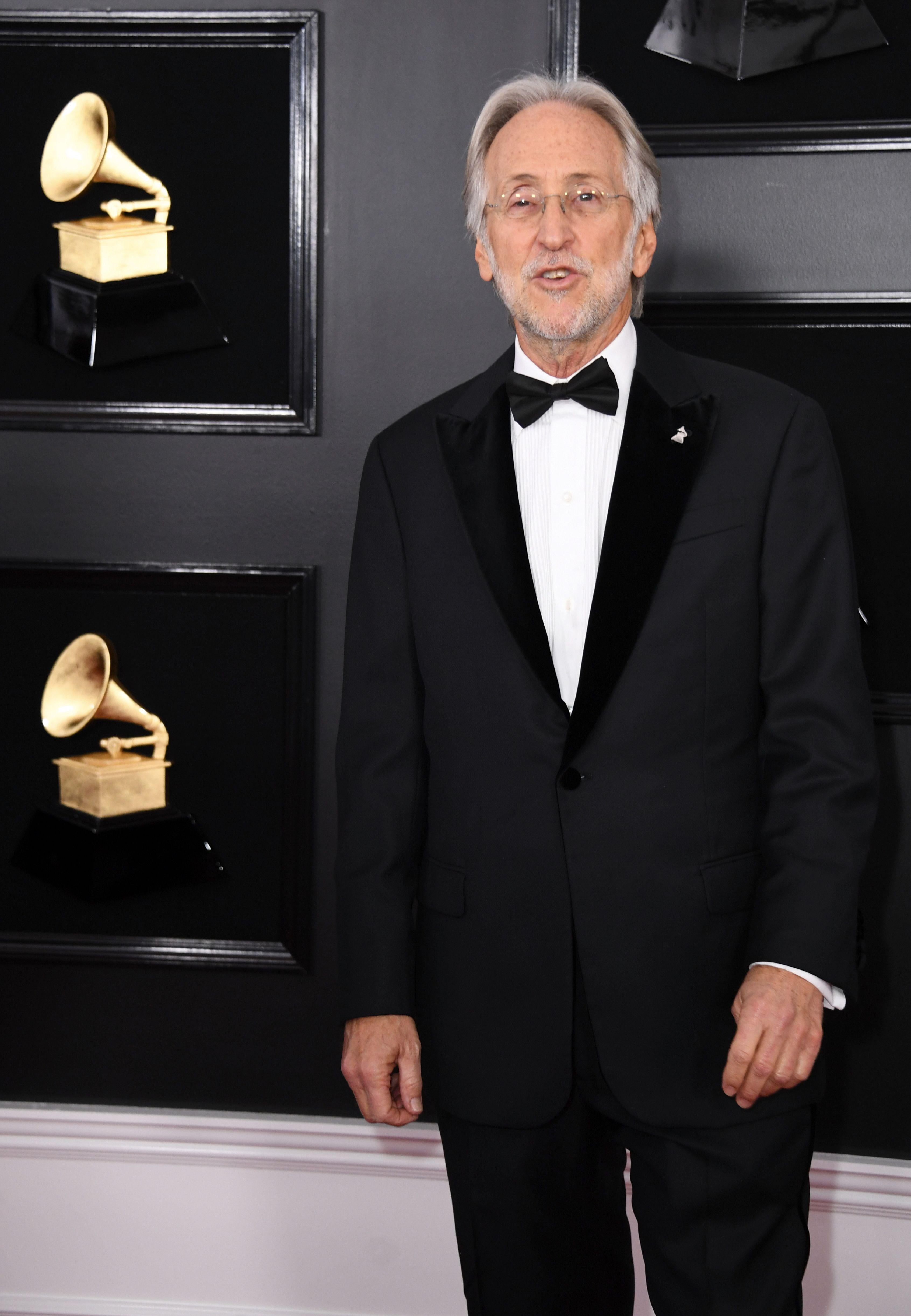 The Recording Academy President Neil Portnow arrives for the 61st Annual Grammy Awards on February 10, 2019, in Los Angeles. (Photo by VALERIE MACON / AFP)        (Photo credit should read VALERIE MACON/AFP/Getty Images)