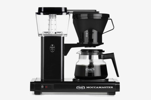 Technivorm Moccamaster 8-Cup Glass Carafe Coffee Brewer in Black.