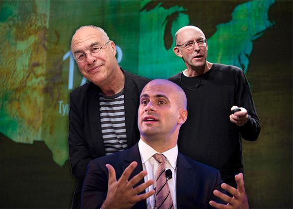 Mark Bittman, Sam Kass and Michael Pollan.