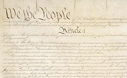 The US constitution. Click image to expand.