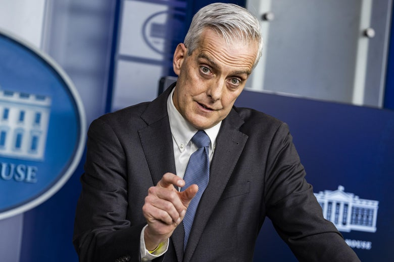 Secretary of Veterans Affairs Denis McDonough speaks during the daily press briefing in the Brady Press Briefing Room at the White House on March 4, 2021 in Washington, D.C.
