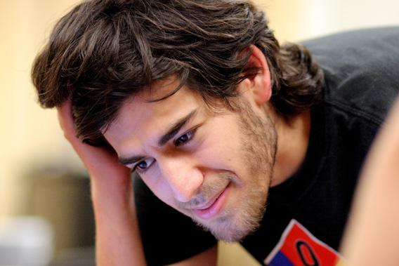 Aaron Swartz at a Boston Wiki Meetup in August 2009.