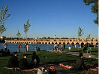 Khaju Bridge Zayandehrood River, Isfahan. Click image to expand.