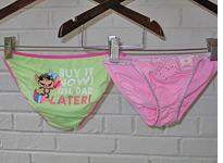 Tween underpants. Click image to expand.