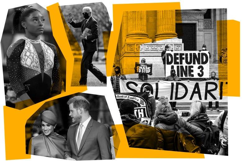 Simone Biles, Joe Biden, a Line 3 protest, Prince Harry and Meghan