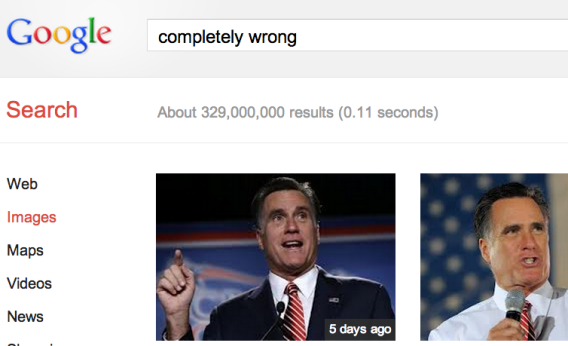 "Google image search results for ""completely wrong."""