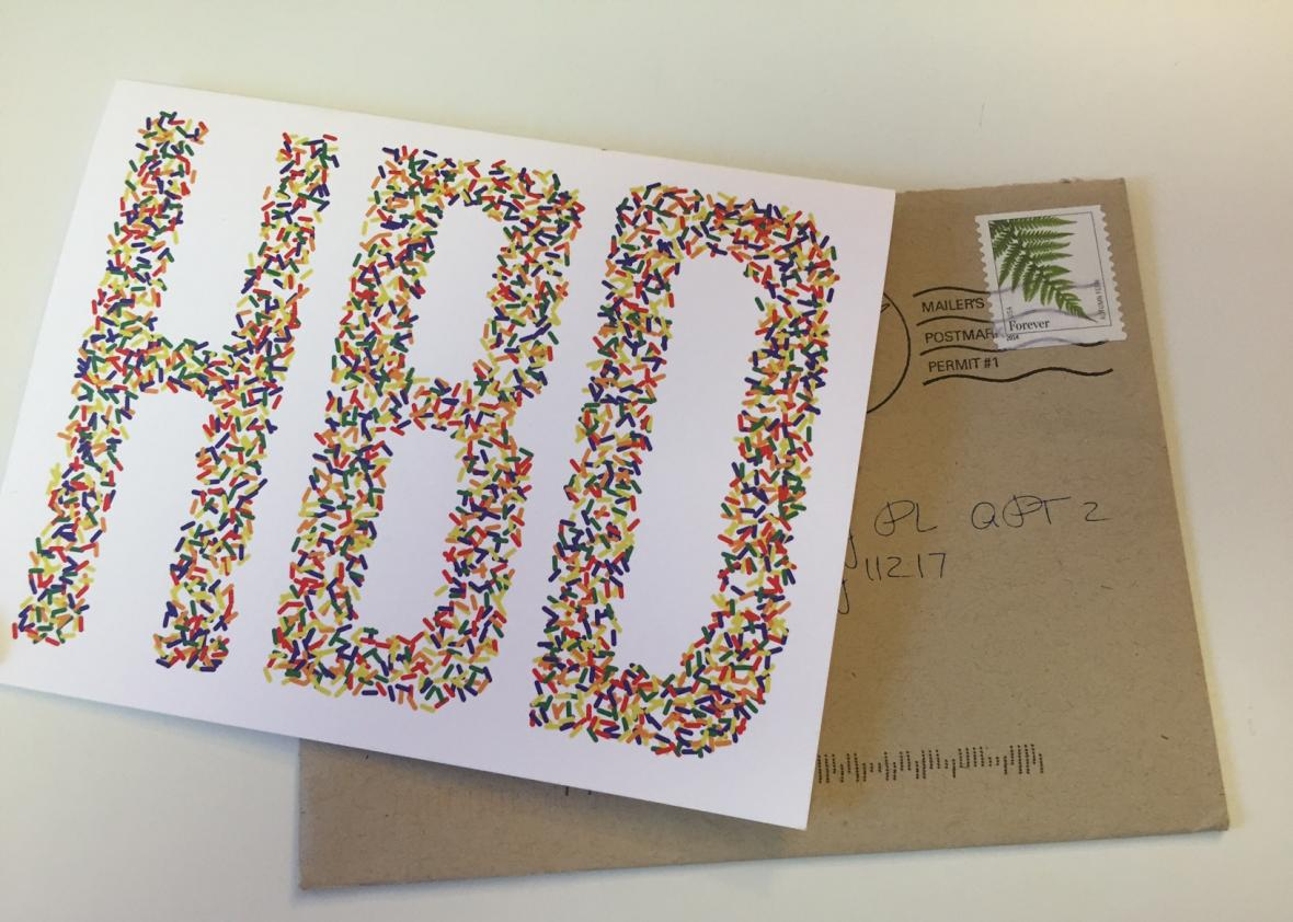 A Birthday Card Sent Through The Real Old Fashioned Mail Not By Person But Company Postable