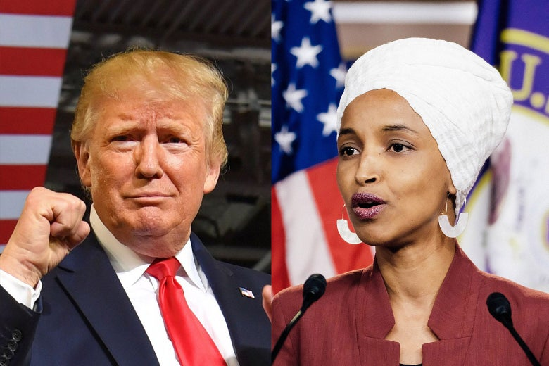 Donald Trump; Ilhan Omar